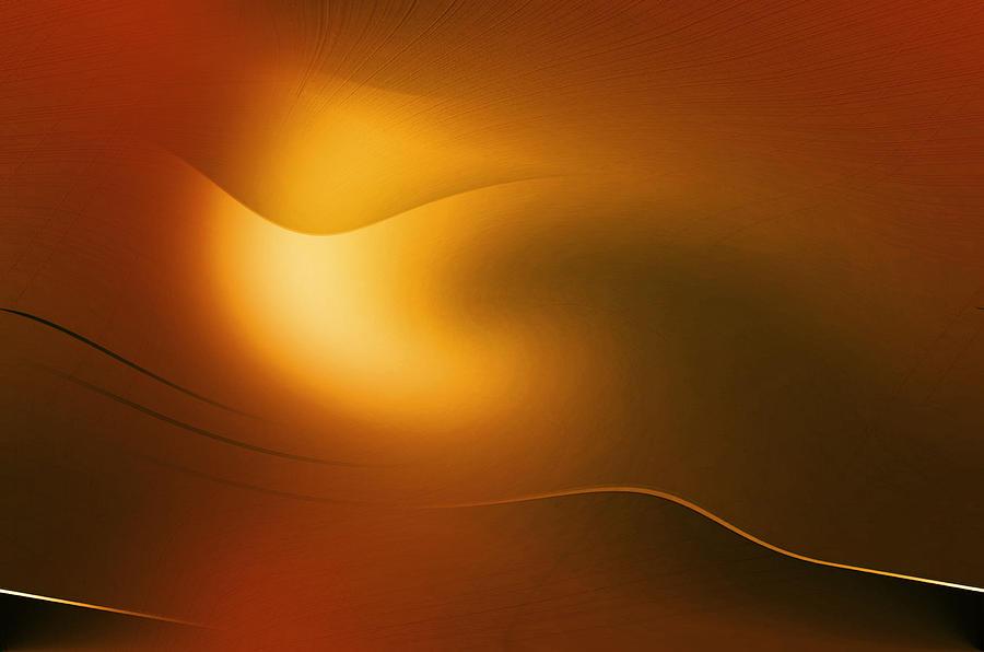 Abstract Digital Art - Relucent Gold by John Krakora