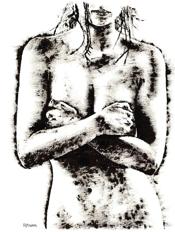 Nude Painting - Reluctance by Richard Young