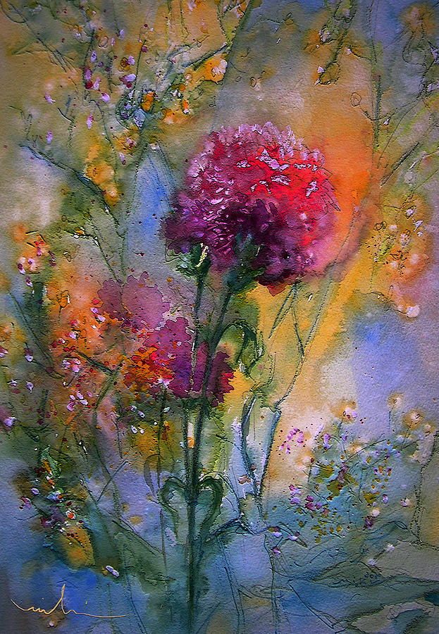Flowers Painting - Remains Of The Day by Miki De Goodaboom