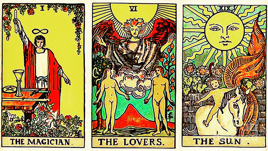 Remastered The Three Tarot The Magician The Lovers And The Sun 20170423 by  Wingsdomain Art and Photography