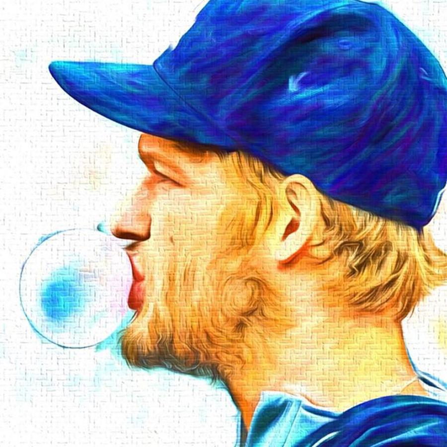 Mvp Photograph - #rembrandt #baseball #mlb #sports by David Haskett II