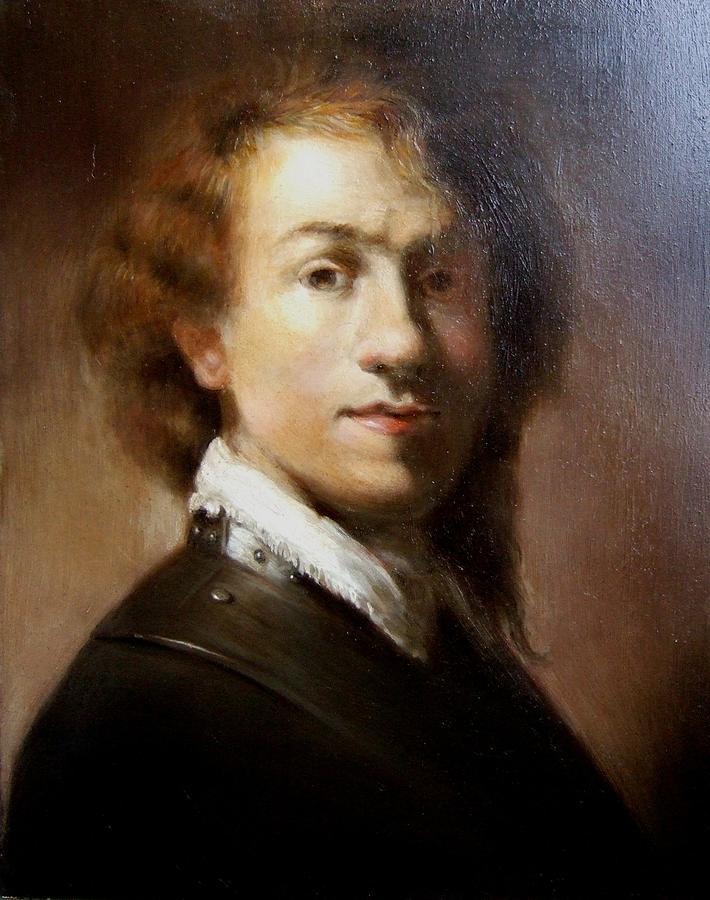 Portrait Painting - Rembrandt Self Portrait by Darlene LeVasseur
