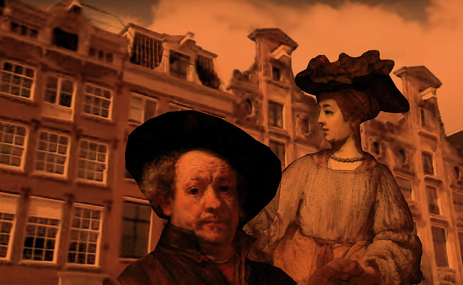 Rembrandt Study in Orange by Tristan Armstrong