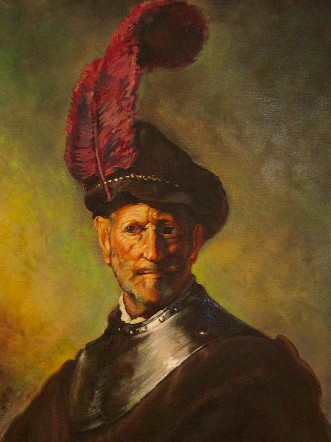 Rembrandt S Old Man As A Soldier Painting By David Stewart