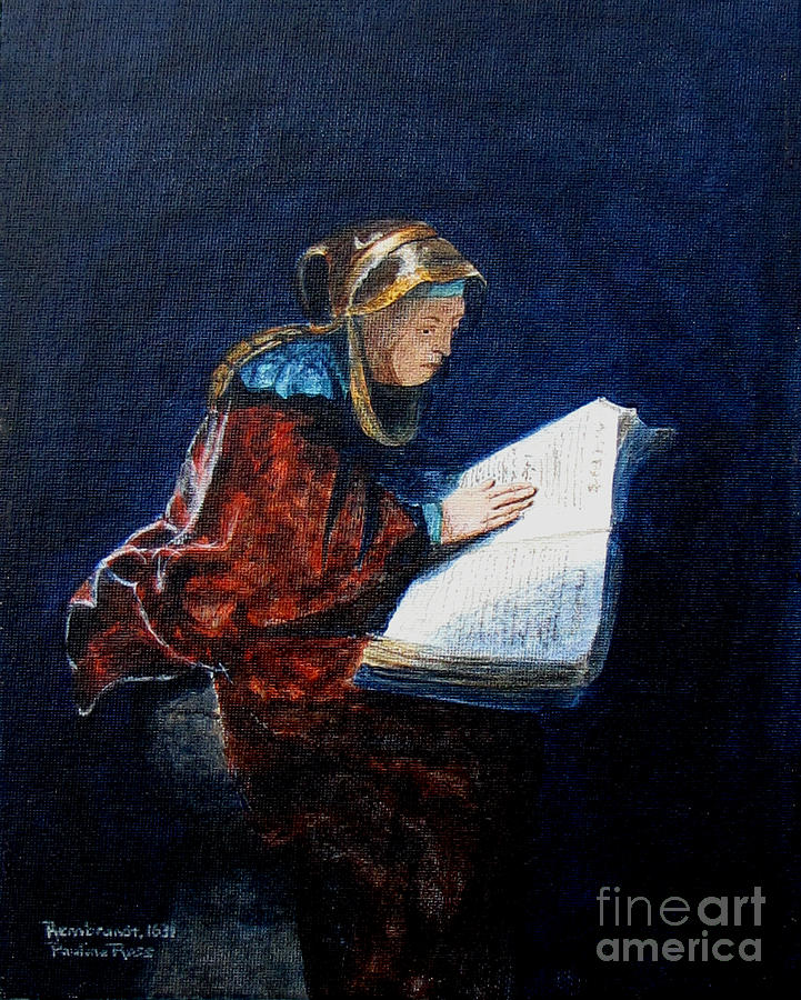 Rembrandt Painting - Rembrandts Prophetess Ana by Pauline Ross