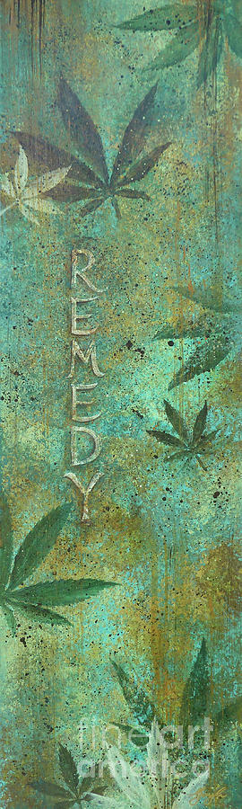 Cannabis Painting - Remedy by Gayle Utter