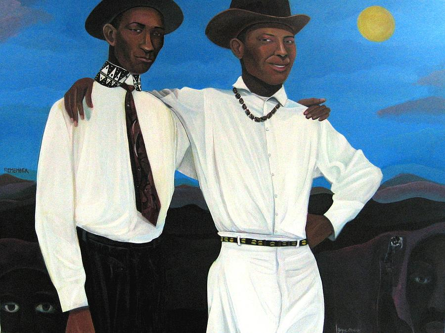 Men Painting - Remember by Joyce Owens