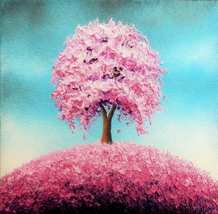 Cherry Blossom Tree Painting Painting - Remember The Bloom by Rachel Bingaman