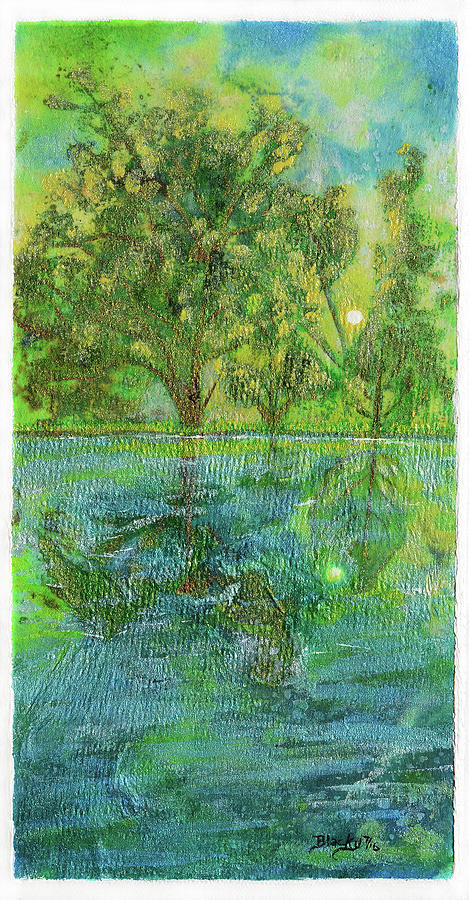 Water Painting - Remembering A Happy Place by Donna Blackhall