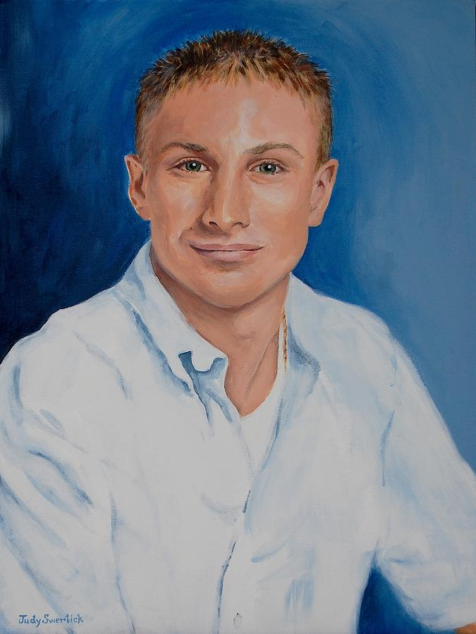 Young Man Painting - Remembering A Special Young Man by Judy Swerlick