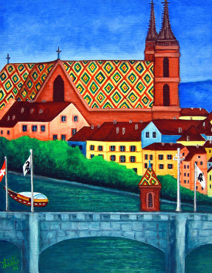 Basel Painting - Remembering Basel by Lisa Lorenz