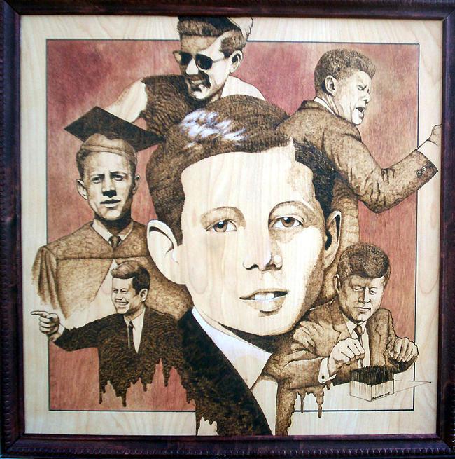 Pyrography Mixed Media - Remembering John by William Burton Jr