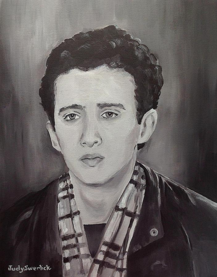 Portrait Painting - Remembering Samir by Judy Swerlick