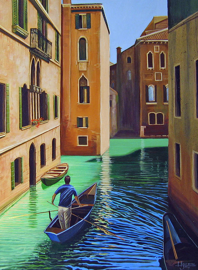 Remembering Venice Painting by Hunter Jay