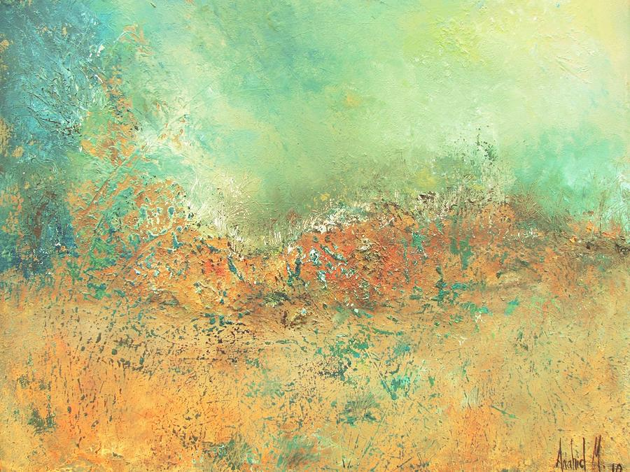 Landscape Painting - Remembrance by Anahid Minatsaghanian
