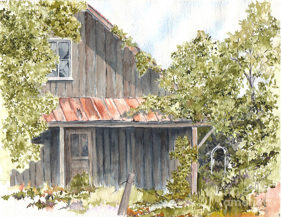 Old House Painting - Remembrance by Jackie Mueller-Jones