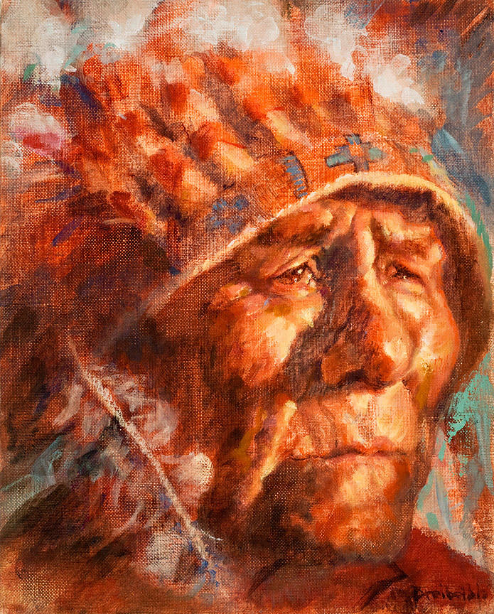 Native American Painting - Remembrance Of Things Past by Ellen Dreibelbis