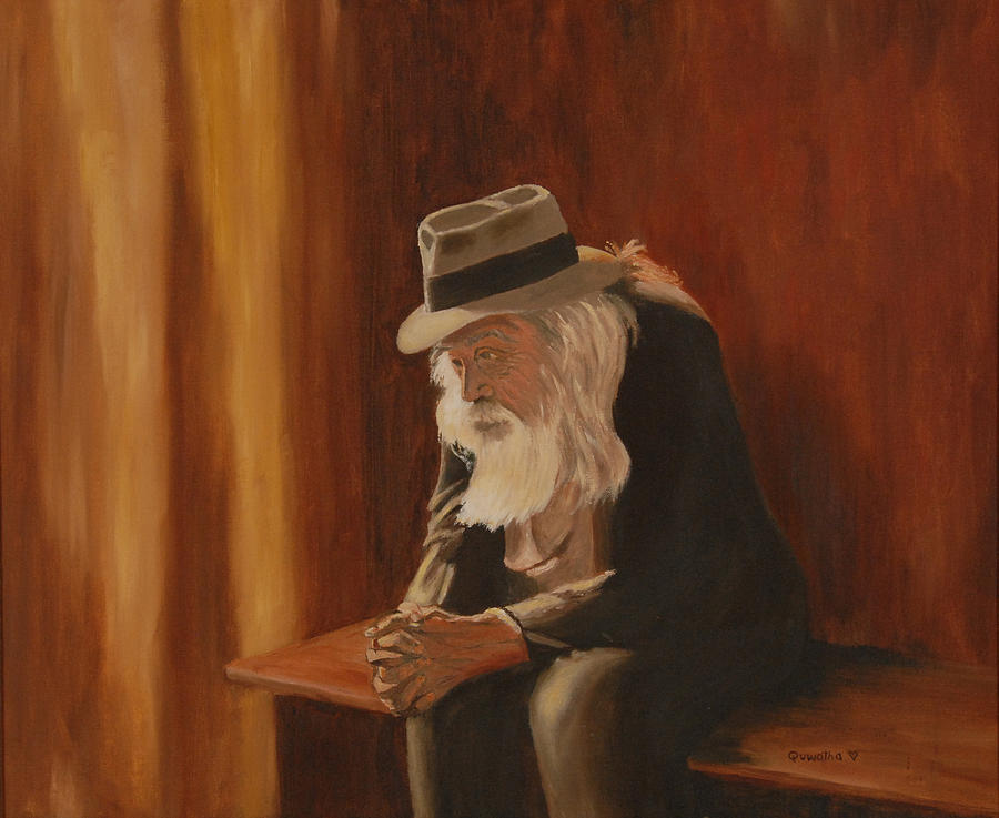Man Painting - Remembrance by Quwatha Valentine