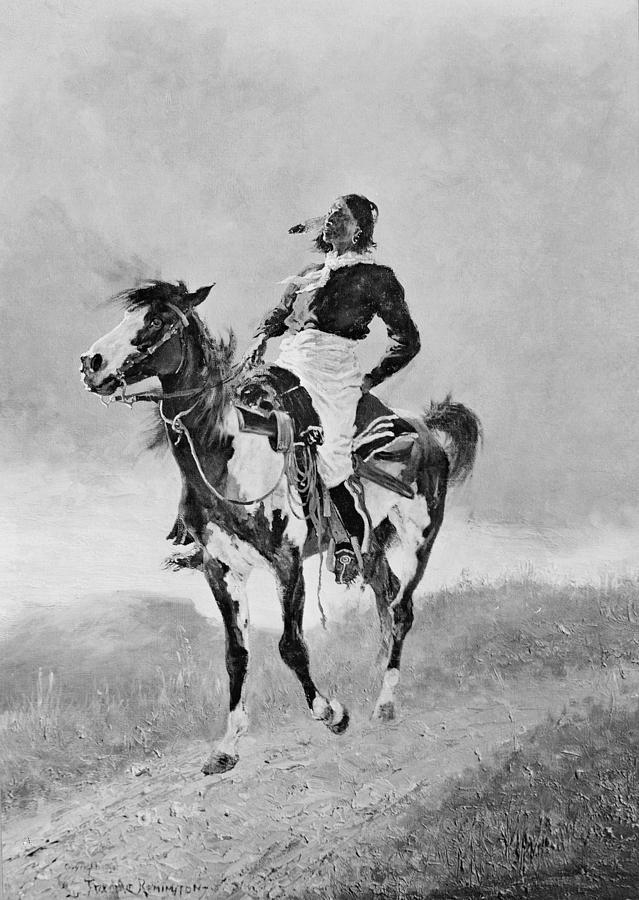 1890 Photograph - Remington: Comanche, C1890 by Granger
