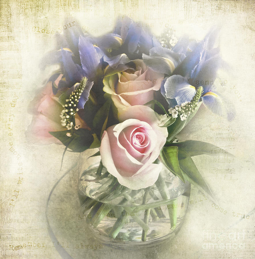 Bouquet Photograph - Reminiscence by Elena Nosyreva