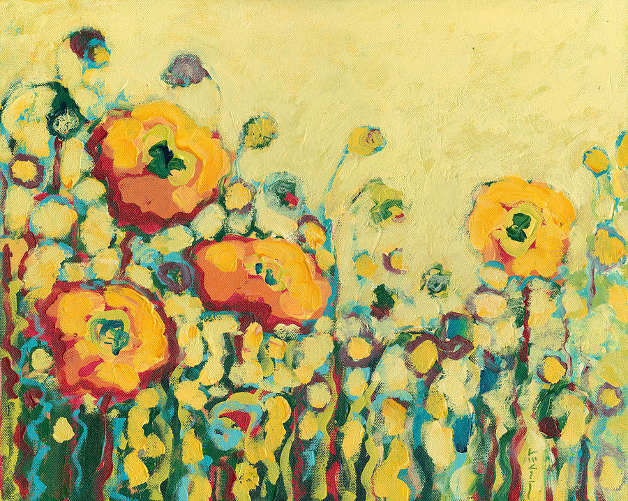 Floral Painting - Reminiscing on a Summer Day by Jennifer Lommers