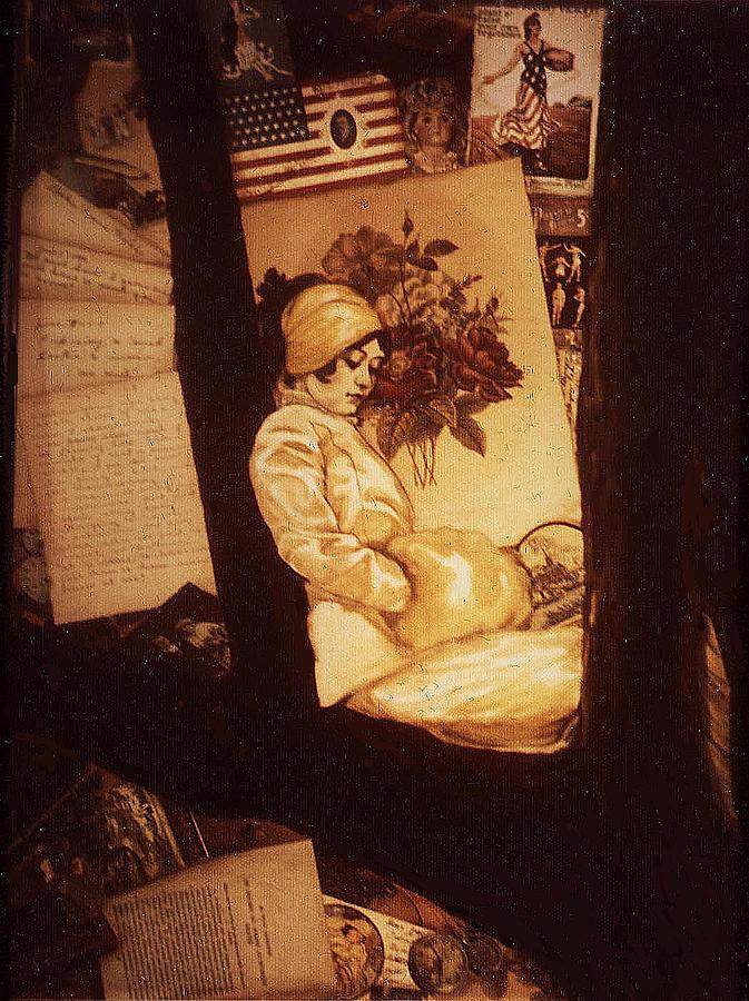 Wwi Painting - Remnants Of 1919 by Jill Baker