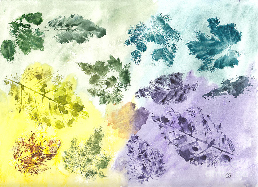 Remnants Of Autumn Leaves Painting