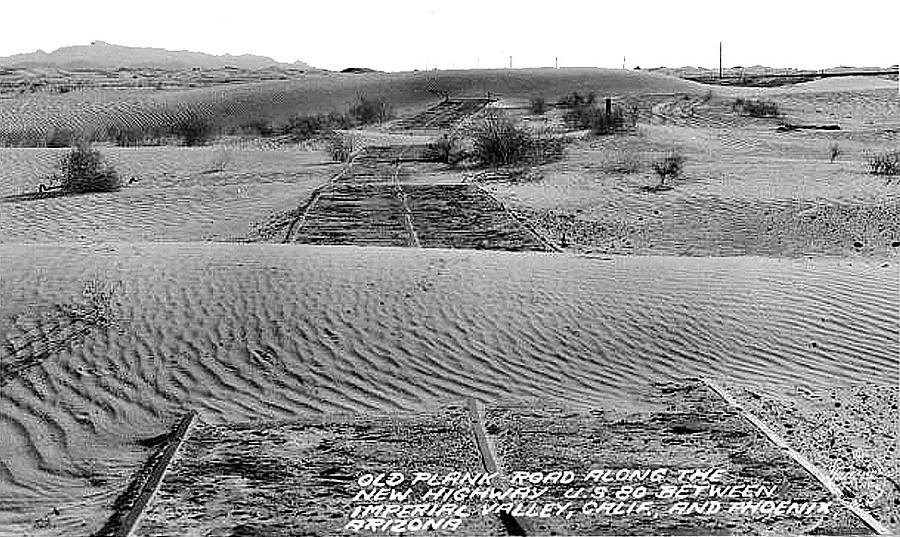 Remnants Of Old Plank Road  Burton Frasher Photo C.1930 Photograph