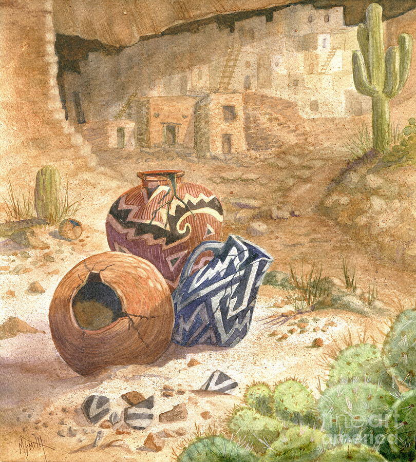 Anasazi Painting - Remnants Of The Ancient Ones by Marilyn Smith