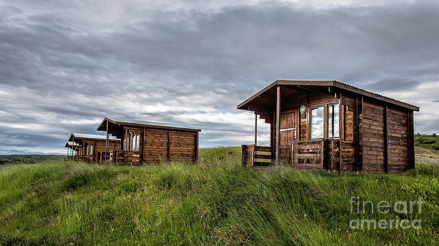 Iceland Photograph - Remote Cabins Myvatn Iceland by Edward Fielding