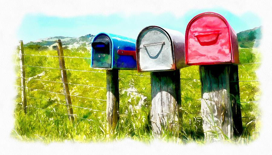 Remote letterboxes by Jenny Setchell