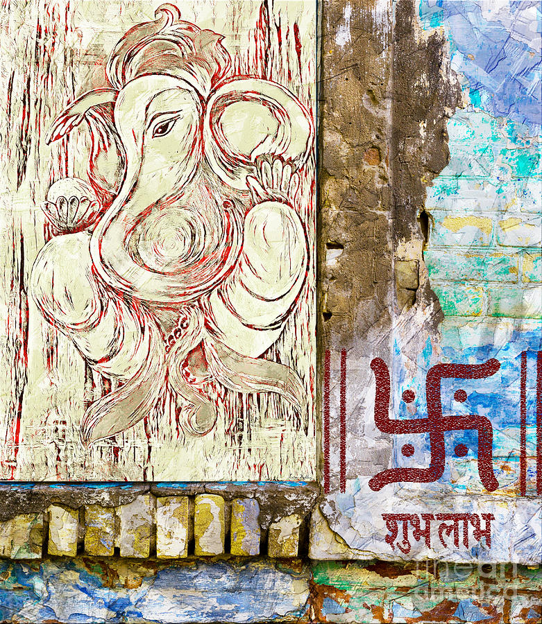 Ganesha Mixed Media - Remover Of Obstacles by Lita Kelley