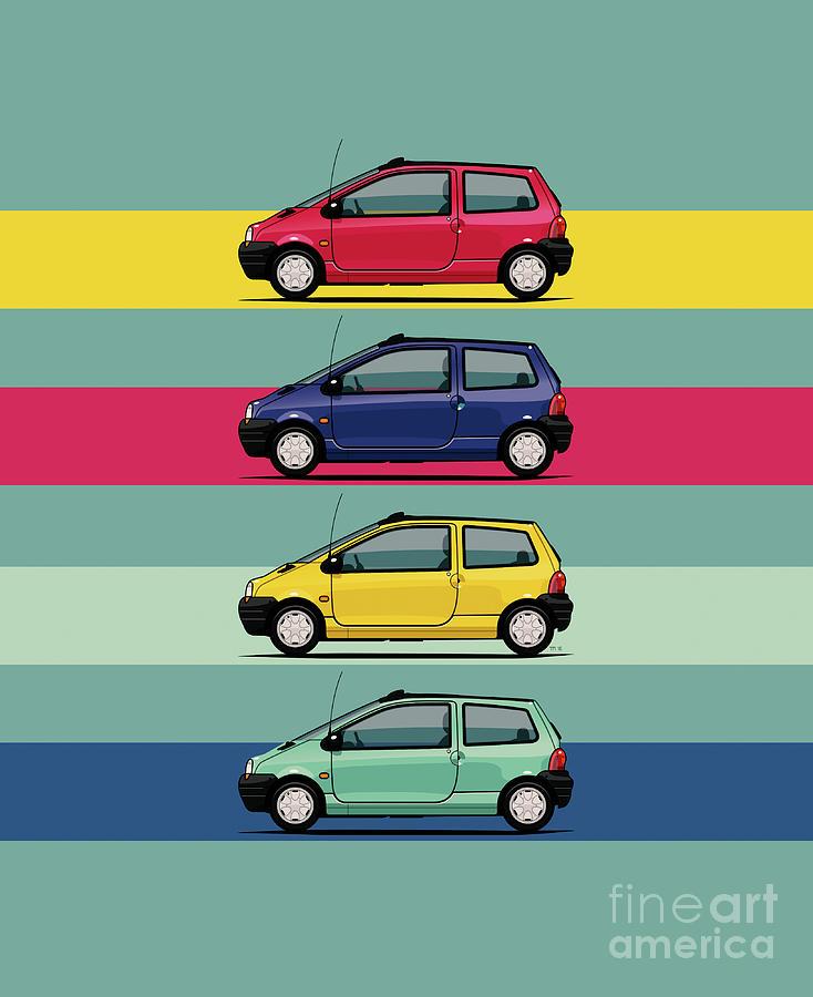 Renault Twingo 90s Colors Quartet by Monkey Crisis On Mars