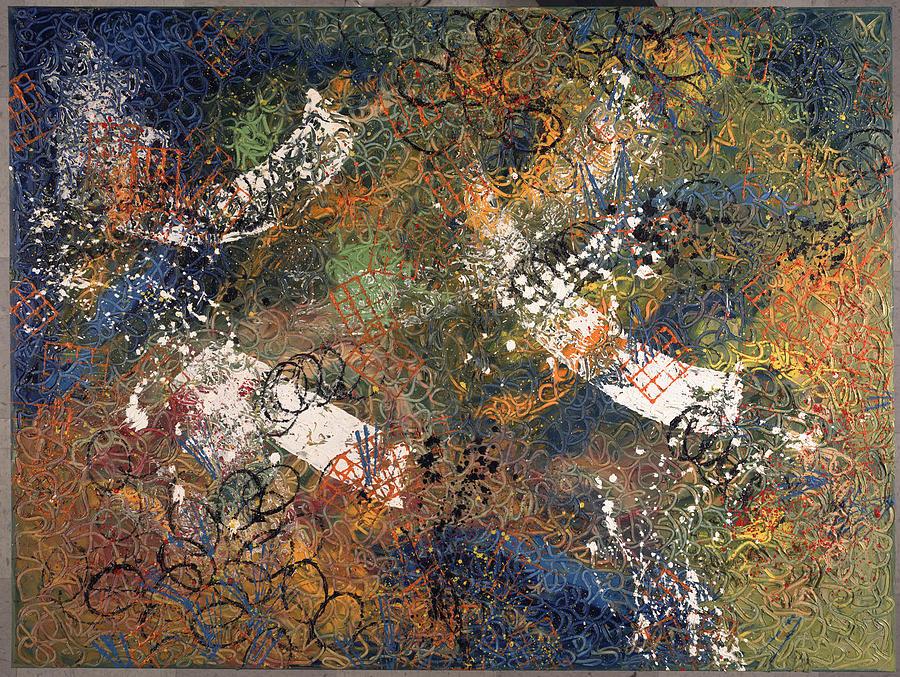 Rencontre Avec Les Anges Painting by Dominique Boutaud