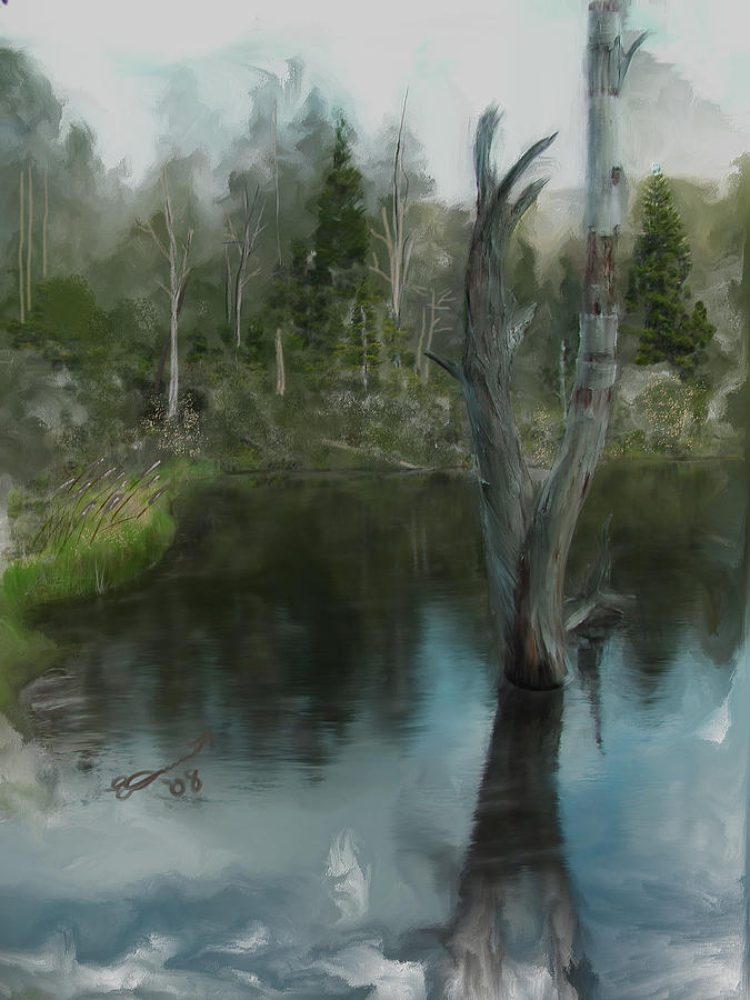 Renewal... Painting by Eddie Durrett