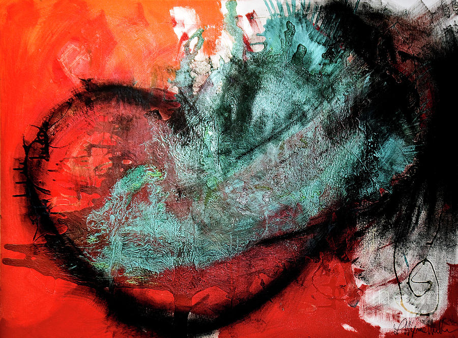 Heart Painting - Renewal by Laurie Wynne Weber