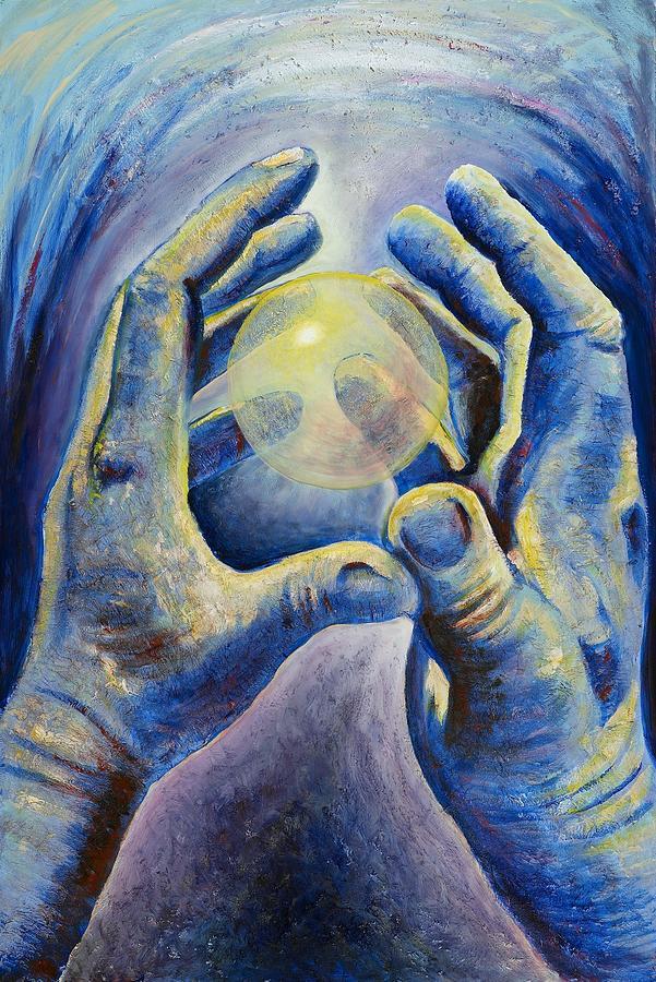 Hands Painting - Renewal by Regina  Lee