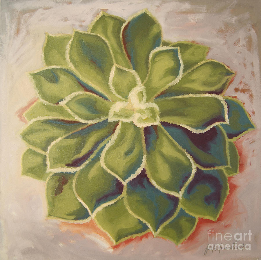 Succulent Painting - Renewed by Erin Fickert-Rowland