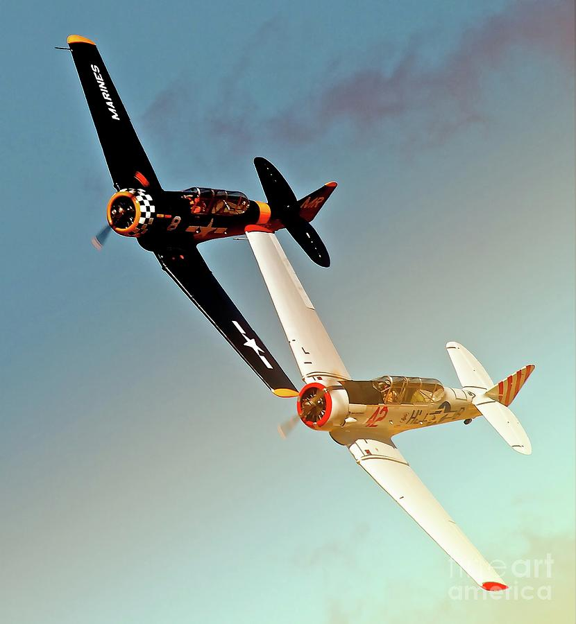 Airplane Photograph - Reno T-6s Honest Entry And Grace 8 Race On by Gus 1f404952f