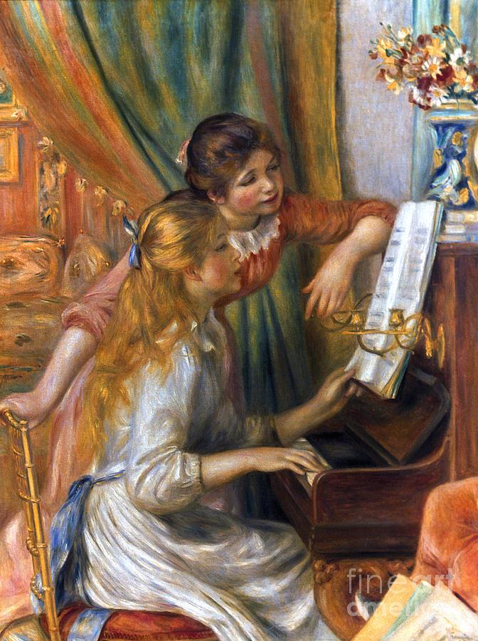 1892 Photograph - Renoir: Girls/piano, 1892 by Granger