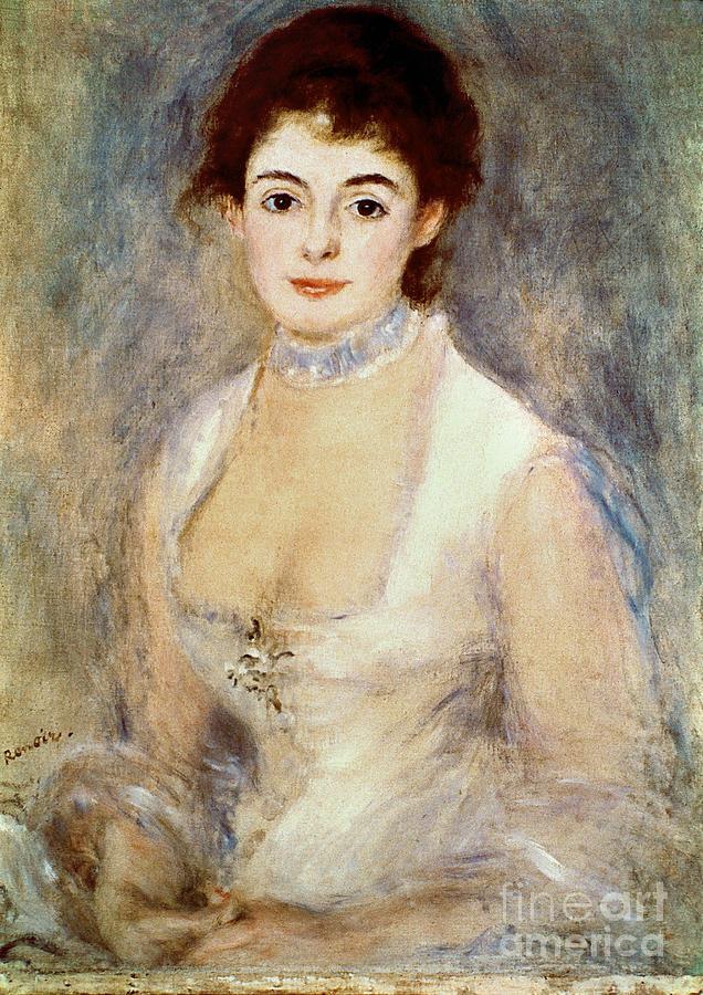 1876 Photograph - Renoir: Madame Henriot by Granger