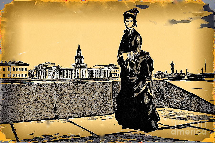 Sureal Mixed Media - Renuar Peterburg Collage by Yury Bashkin