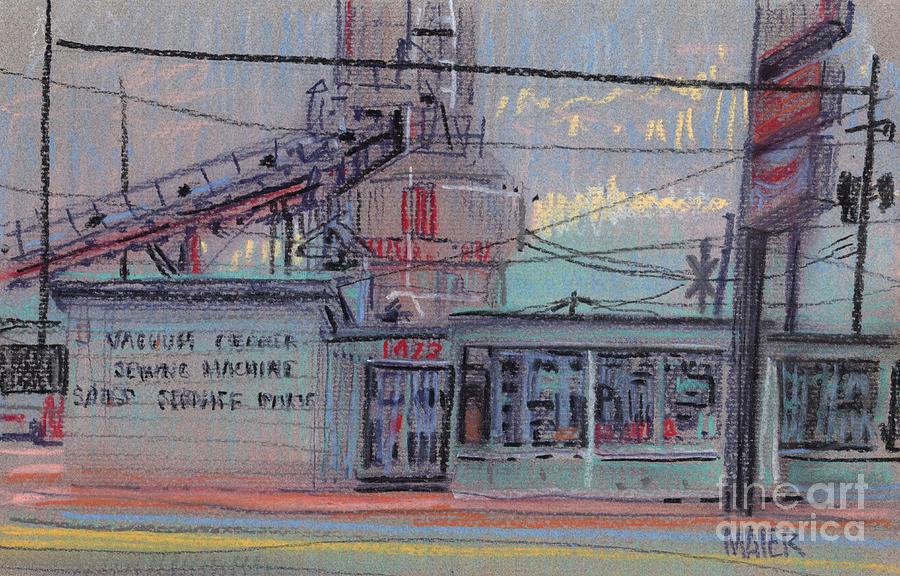 Repair Shop Drawing - Repair Shop by Donald Maier