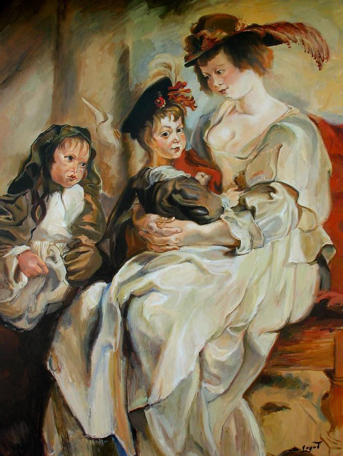 Replica of Helena Fourment with her Children by Rubens by Tigran Ghulyan