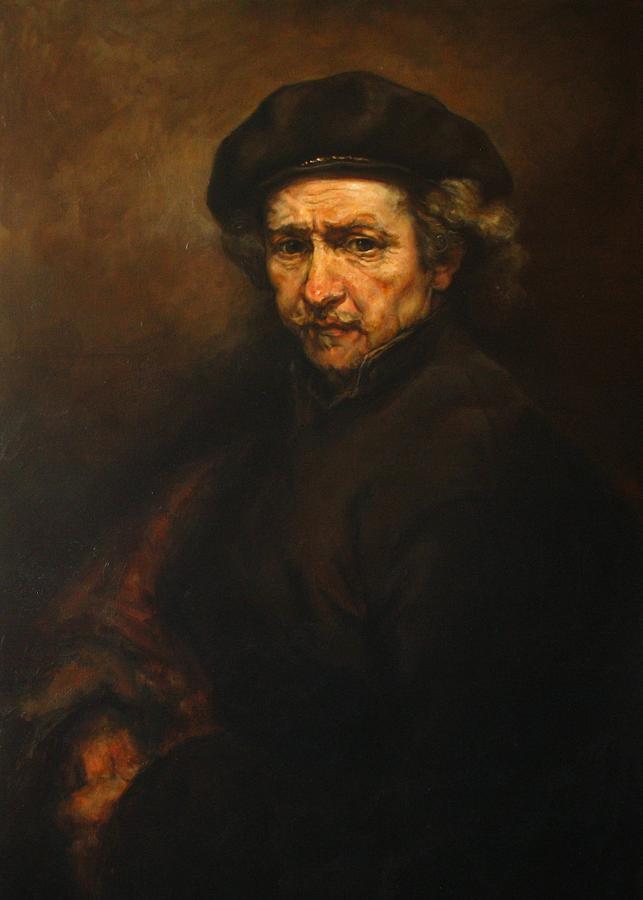 Replica Painting - Replica Of Rembrandts Self-portrait by Tigran Ghulyan