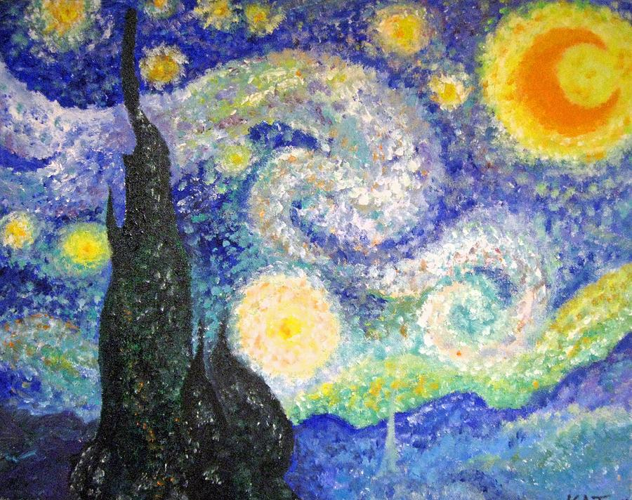 Replicas Painting - Replica Of Van Gogh by Katerina Wagner