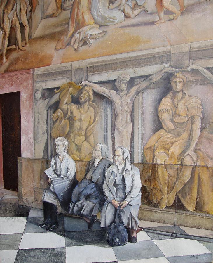 Roma Painting - Reposo En El Vaticano by Tomas Castano