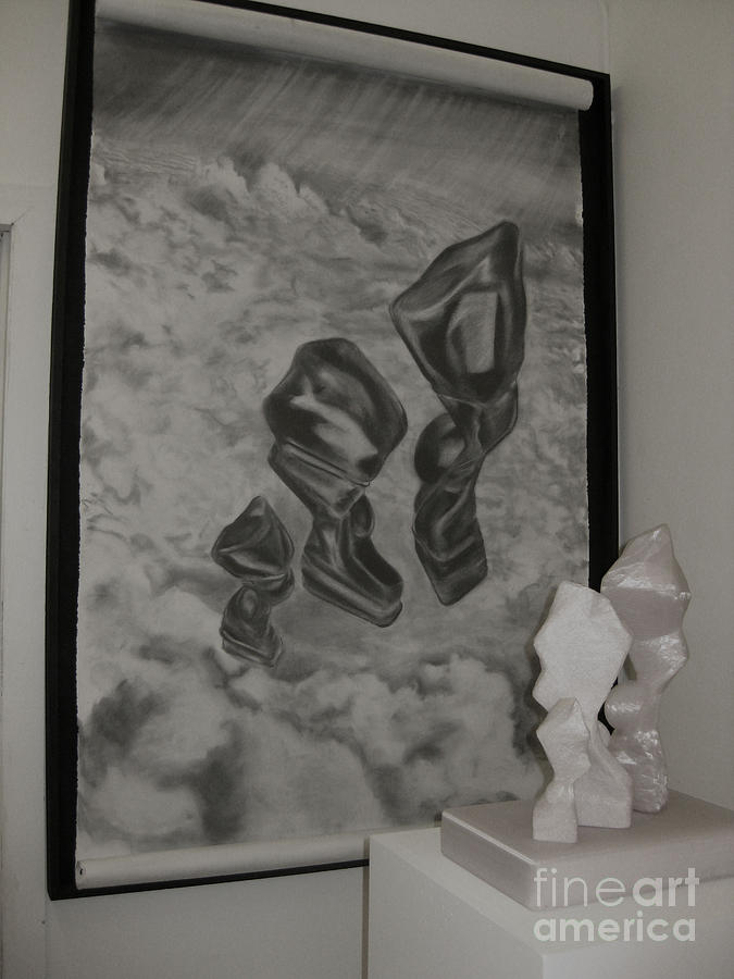 Surrealistic Drawing - Representation Of Figures In Space I by Laura Victore