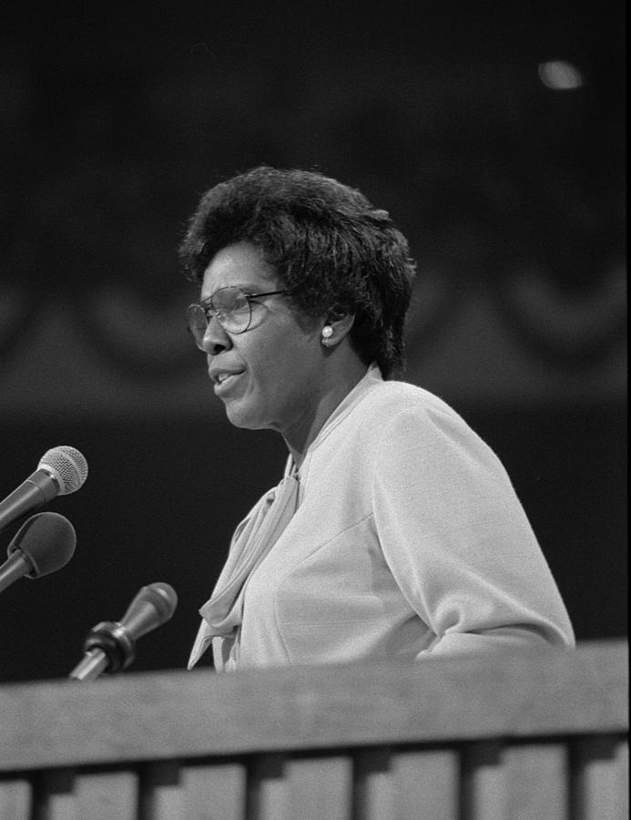 History Photograph - Representative Barbara Jordan Delivers by Everett
