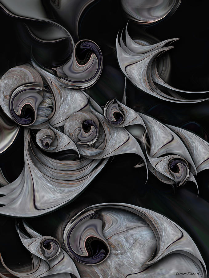 Black Digital Art - Repressed Reality by Carmen Fine Art